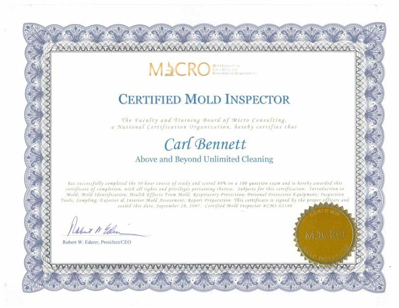Most certified & licensed mold remediation company in Pennsylvania!