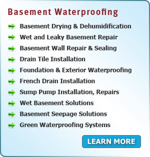 Services Area PA - Basement Waterproofing