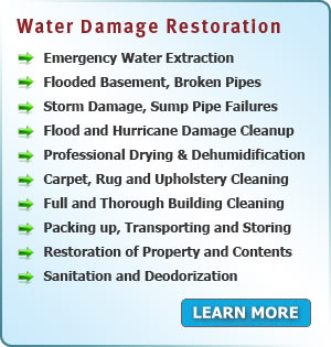Services Area PA - Water and Flood Damage Restoration